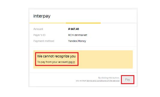 Пополнить баланс ZenMarket через Яндекс Деньги