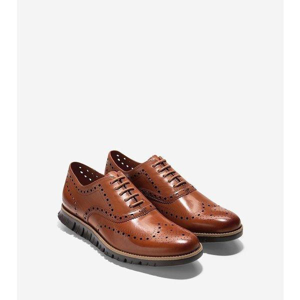 Zero Ground Wing Oxford British Tan