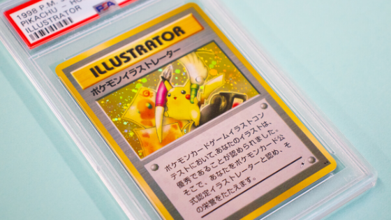 Super rare Pikachu Illustrator Pokemon Card front view