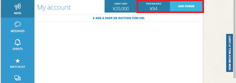 adding funds ZenMarket
