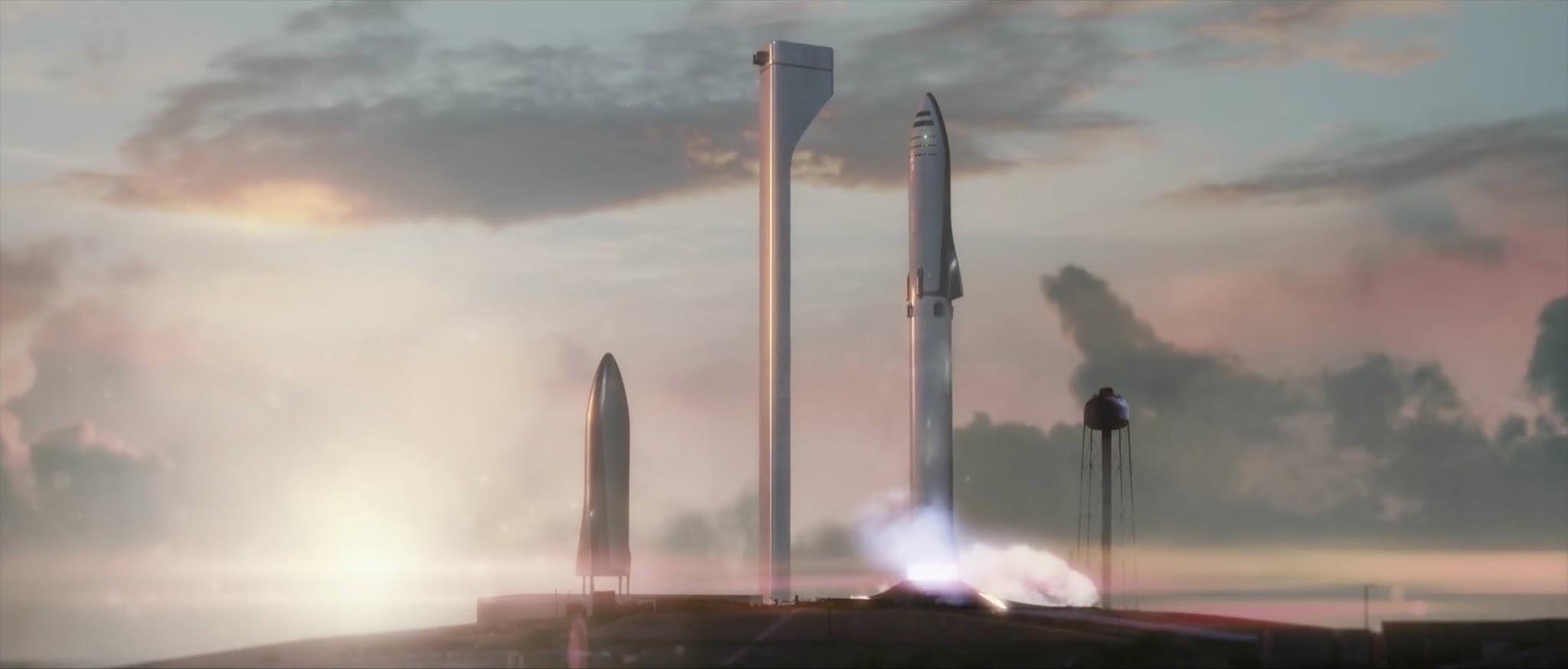 SpaceX's Big Falcon Rocket launching from earth - yusaku Maezawa ZOZOTOWN CEO
