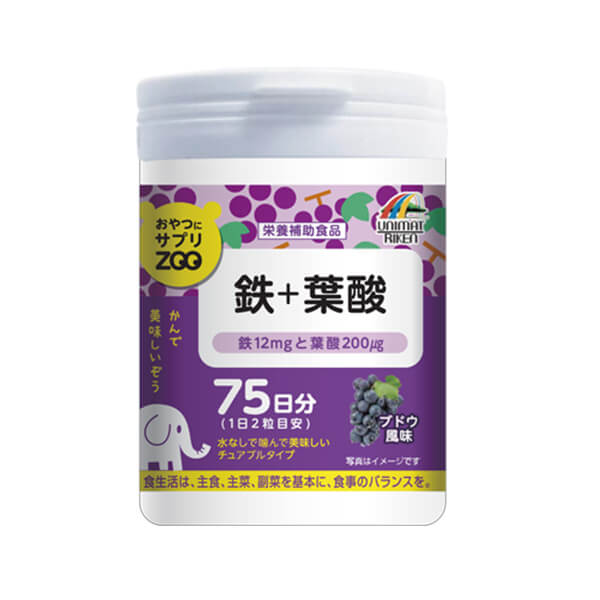 Iron + folic acid ZOO snack supplement